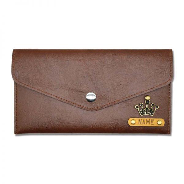 Dark Brown Slim Leather Women Wallet