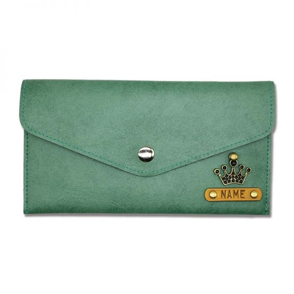 Green Leather Wallet For women