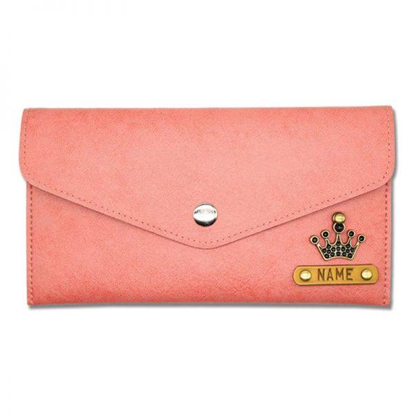 Peach Slim Leather Women Wallet