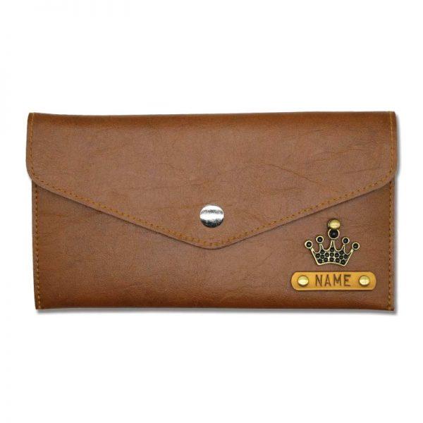 Tan Slim Leather Women Wallet