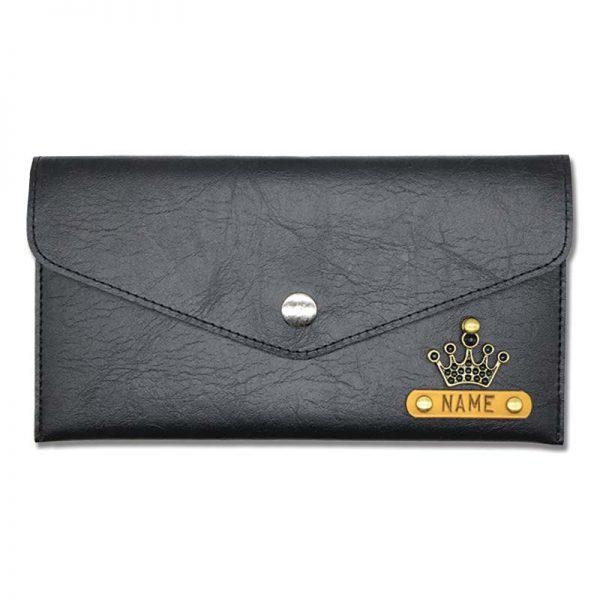 Black Slim Leather Women's Wallet