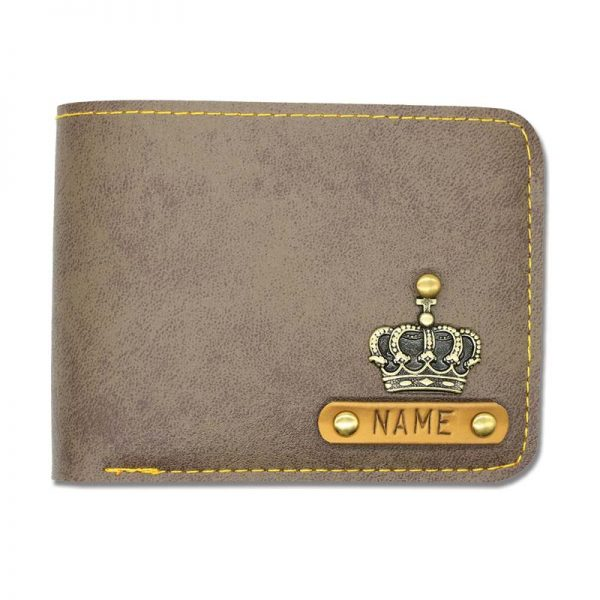 Grey Brown Leather Wallet
