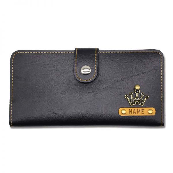 Black Personalised Custom Clutches For Women