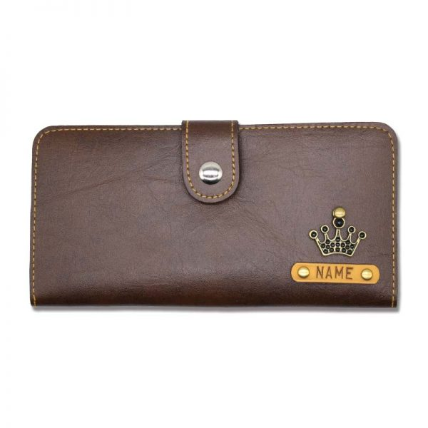 Custom Dark Brown Leather Clutches