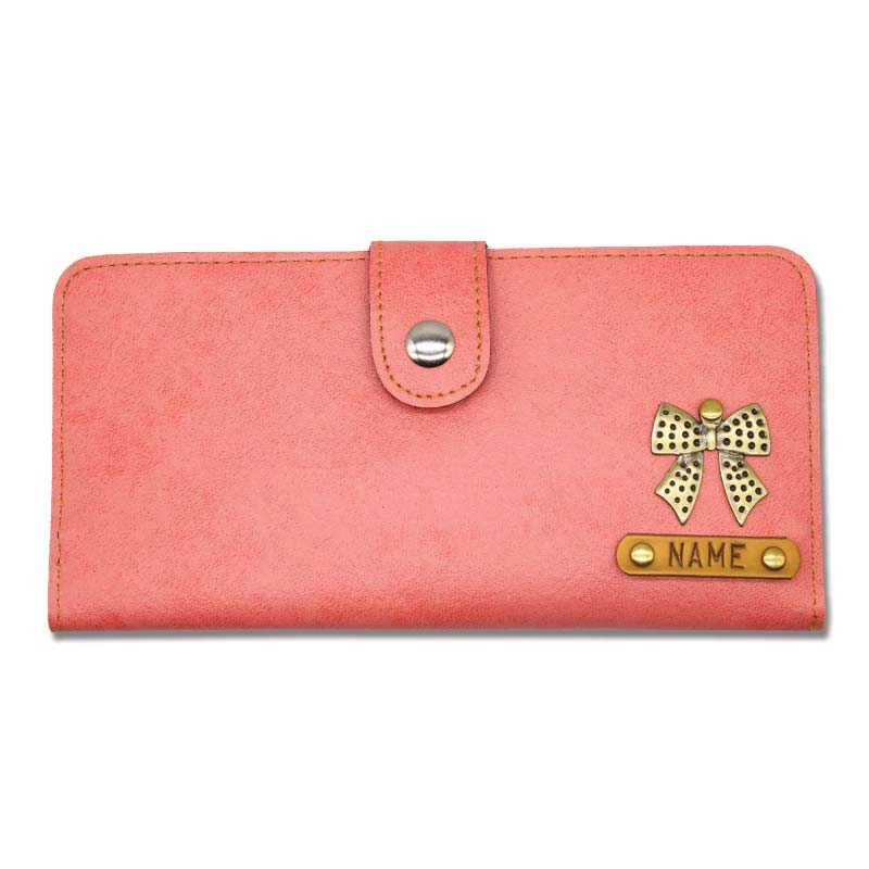 Peach Personalised Clutches For Women