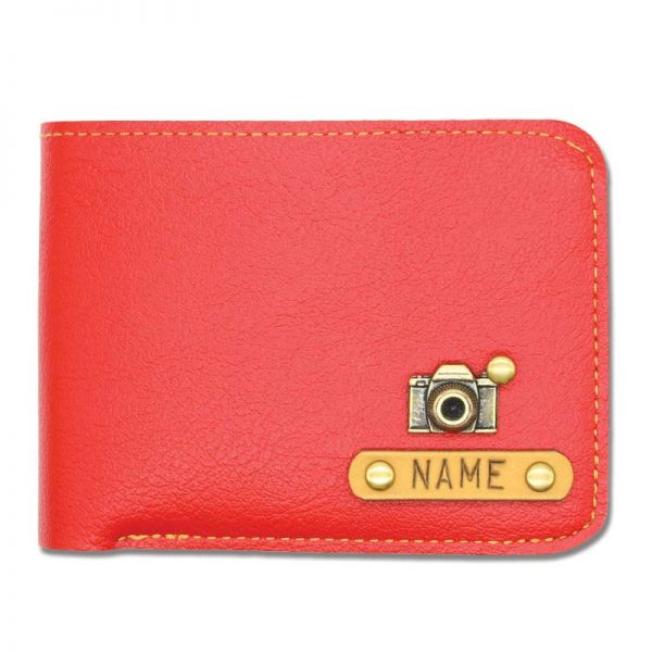 Men's Red Leather Slim Wallet