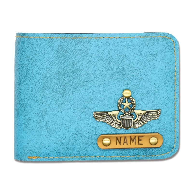 Light Blue Leather Wallet