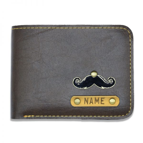 Personalized Slim Dark Leather Wallet For Men