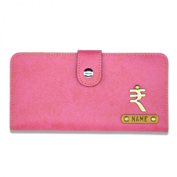 Pink Personalised Clutches For Women